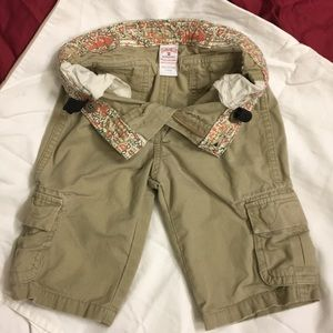 Lucky Girls cropped cargos (5)